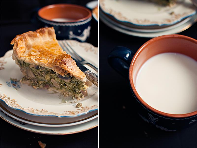 milk and pie