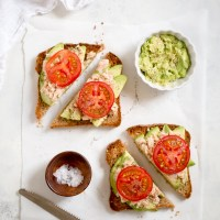 Tuna Avocado Toast with Tomato