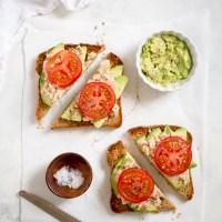 Tuna Avocado Toast with Tomato