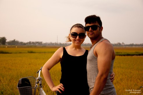 Cycling around the Hoi An rice paddies. Well, taking a break from it anyway...