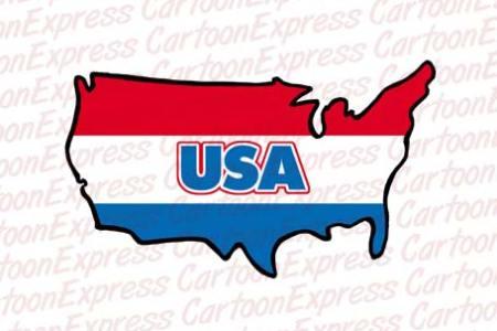 cartoon vector illustration a usa map