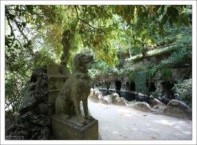 На входе в парк Quinta da Regaleira.