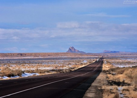 Шоссе 491, ведущее из Нью-Мексико в Колорадо.