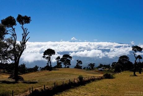 Дорога в национальный парк Irazu, Коста-Рика.