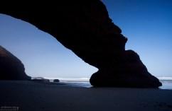 Теневая сторона арки.