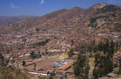 Вид на Куско с высоты объездной дороги #3.