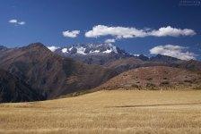 В горах снег, а в долине уже сенокос.