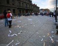 Демонстрация прошла, остался мусор.