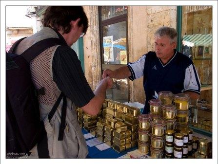 Фермерский рынок в Le Bugue.