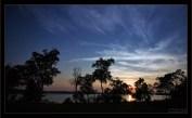 Закат над рекой Narraguagus River.