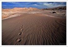 Следы на дюне в Долине Луны (Valle de la Luna).