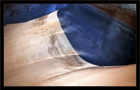 Песчаная поземка на гребне Дюны Гранде.