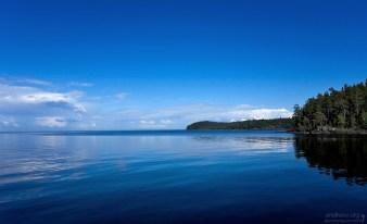 Спокойные воды Ладоги.
