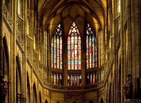 Купол изнутри собора Св. Вита.