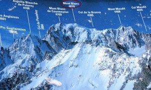 Мон Блан (4810 м) и окружающие горы.