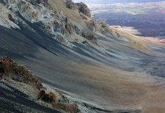 Песчаные склоны вулкана Халеакала.