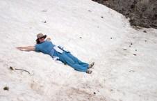 Катя на леднике :) Национальный парк Олимп.