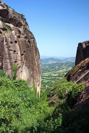 Скала, на которой расположен монастырь Megalo Meteoro. Метеоры.
