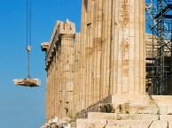 Реставрационные работы по восстановлению Парфенона.