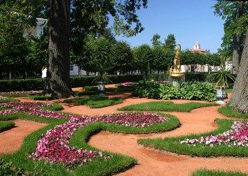 """Монплезирский сад и фонтан """"Колокол""""."""