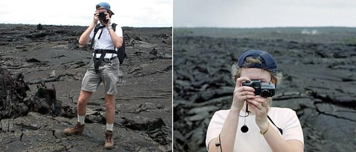 Два фотографа-любителя на лавовом поле :)