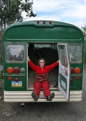 В кемперском автобусе. Стоянка у Чудо-озера.
