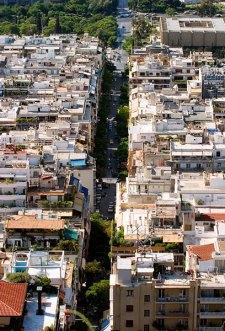 Жилые районы не-туристических Афин.