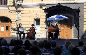 Концерт во дворе Академической Капеллы Санкт-Петербурга.