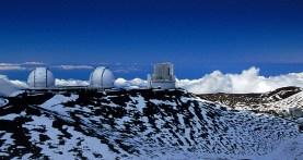 Обсерватория на вершине горы Mauna Kea.