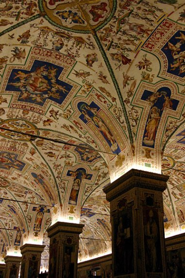 Расписные потолки. Ватиканский музей.
