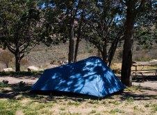 Наша палатка в кемпинге Chisos Basin campground.