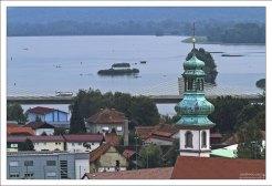 Птуйское озеро, возникшее после сооружения плотины на реке Драве.