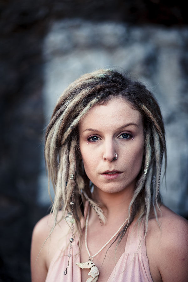 Portrait with dreadlocks