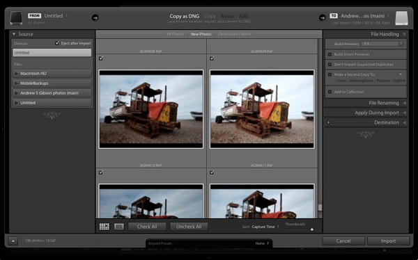 How to speed up Lightroom import process