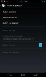 Ability to put Battery status in the navigation bar