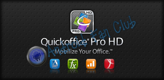 Quickoffice Pro (Office & PDF) for Android smartphones & tablets