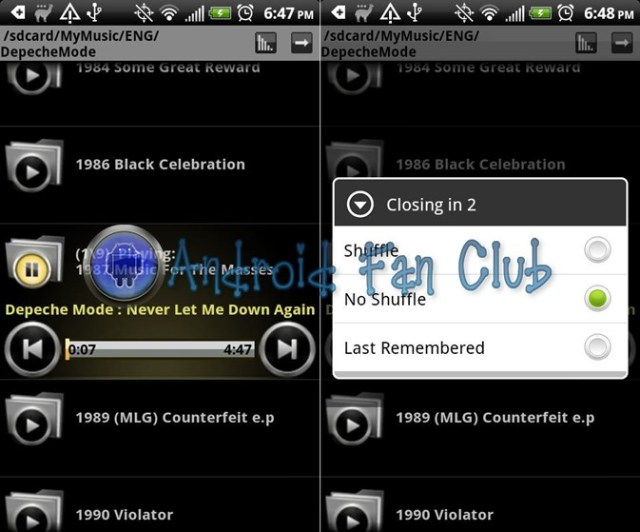 Folder Music Player for Android