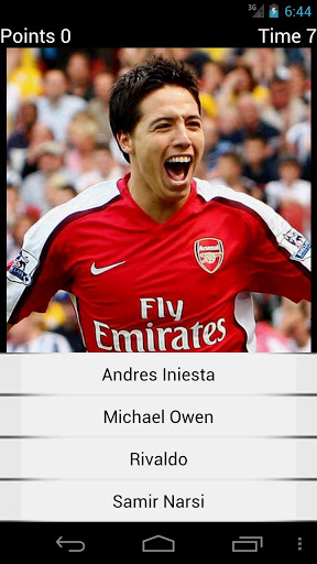 Quiz Soccer Players