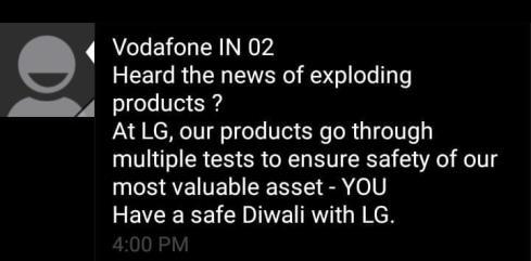 LG Sebar SMS Menyindir 'Ledakan' Note 7