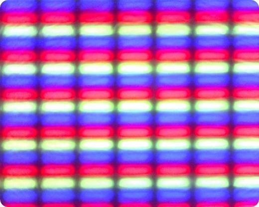 Regular pixels from a TFT screen