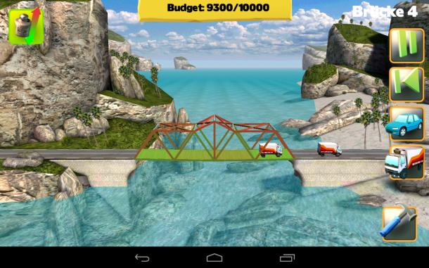 Anfangs müssen Sie nur geringe Distanzen mit simplen Brückenkonstruktionen überwinden.