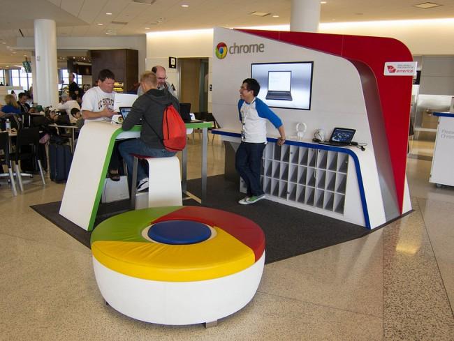 Google hatte in der Vergangenheit gemeinsam mit Virgin auf Flughäfen Kiosk-Stände aufgebaut.