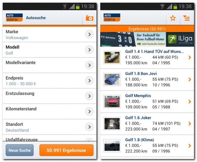 Die AutoScout24 App unterstützt dich bei der Suche nach neuen oder gebrauchten Autos und Motorrädern.