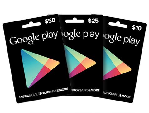 Google Play Store Gutscheinkarten