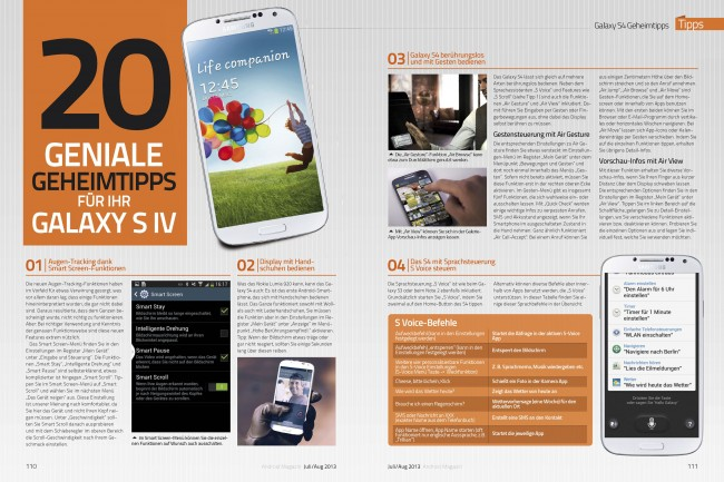Galaxy S4-Geheimtipps (2 von 6 Seiten)