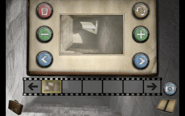 Szenen können mit der Notizblockfunktion abgespeichert werden.