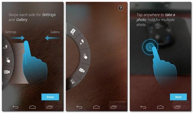 Einblicke in die Kamera-Software (Quelle: androidnext.de)