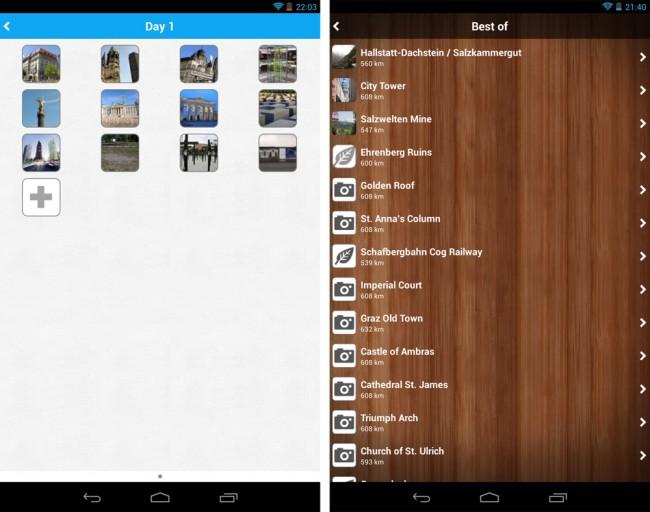 Die angelegten Reisepläne kannst du nicht nur auf dem Smartphone, sondern auch auf dem PC abrufen und bearbeiten.