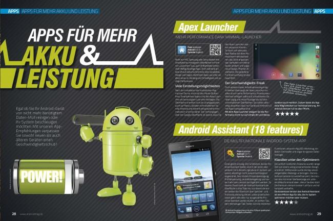 Apps für mehr Akku & Leistung (2 von 6 Seiten)