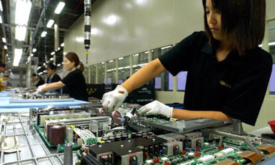Eine Samsung-Produktionsstätte in Südkorea.